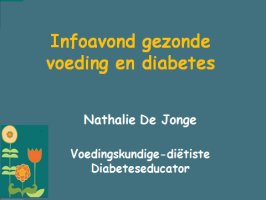 Infoavond Diabetes en preventie